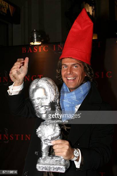 Italian actor Antonio Zequila performs at the Italian Premiere of 'Basic Instinct II: Risk Addiction' at the Warner Village Moderno Cinema on March...
