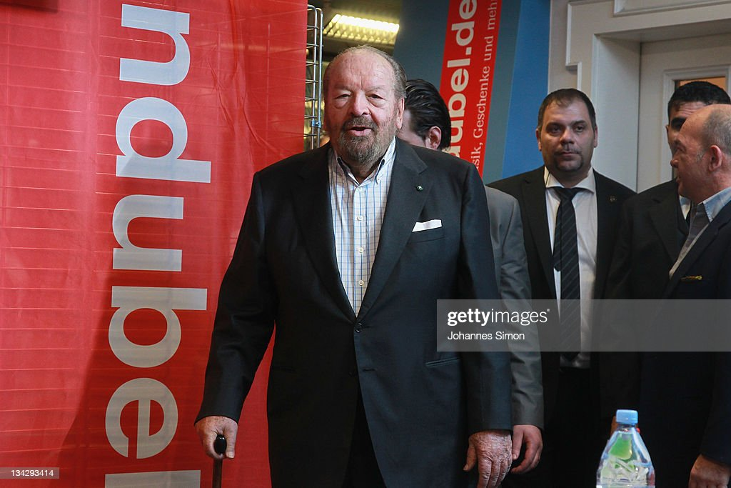 Italian Actor Bud Spencer Arrives For Signing His
