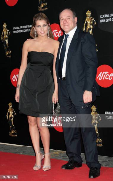 Italian actor Carlo Verdone and his daughter Giulia arrive at the Italian Movie Awards ''David Di Donatello'' at the Auditorium Conciliazione on...