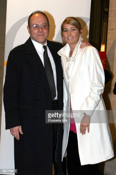 Italian actor Carlo Verdone and his daughter Giulia attend the Nastri D'Argento Ceremony at The Auditorium on February 7, 2006 in Rome, Italy.