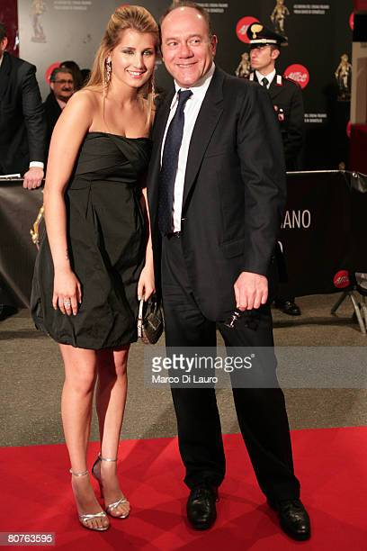 Italian actor Carlo Verdone and his daughter Giulia pose during the arrivals for the David di Donatello Movie Awards at the Auditorium della...
