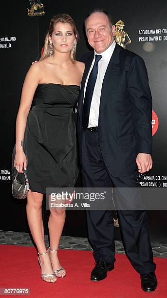 Italian actor Carlo Verdone and his daughter Giulia Verdone arrive at the Italian Movie Awards ''David Di Donatello'' at the Auditorium Conciliazione...