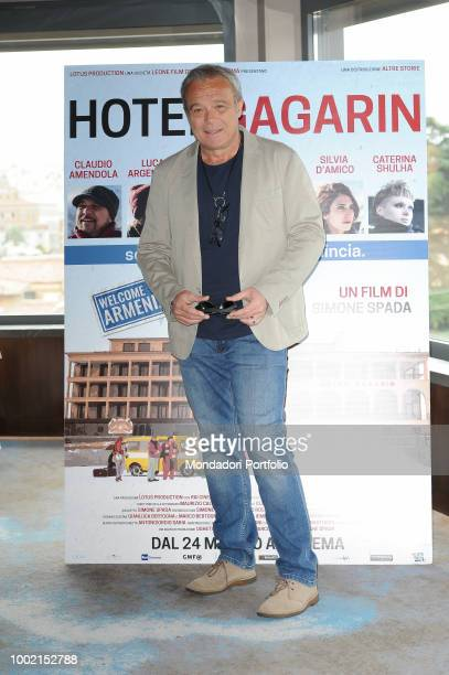 Italian actor Claudio Amendola attends the Hotel Gagarin movie photocall on Eden Hotel terrace Rome May 22nd 2018