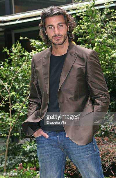 Italian actor Daniele Liotti poses during the photocall of the TV film 'L'inchiesta' at RAI Viale Mazzini on March 29 2007 in Rome Italy