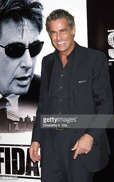 Italian actor Edoardo Costa attends the 'Righteous Kill' premiere at the Warner Cinema Moderno on September 16 2008 in Rome Italy