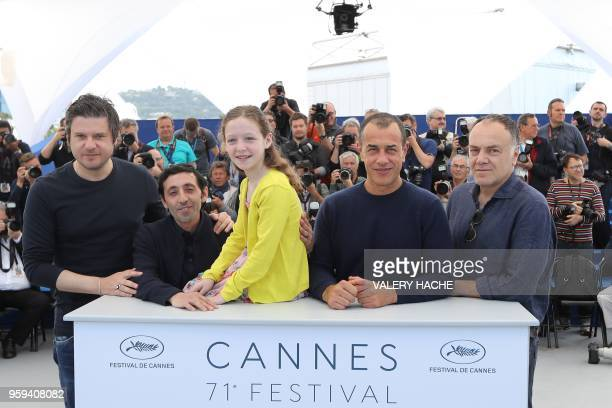 Italian actor Edoardo Pesce Italian actor Marcello Fonte Italian actress Alida Baldari Calabria Italian director Matteo Garrone and Italian actor...