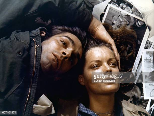 Italian actor Fabio Testi and Austrianborn German actress Romy Schneider on the set of L'important c'est d'aimer written and directed by Polish...