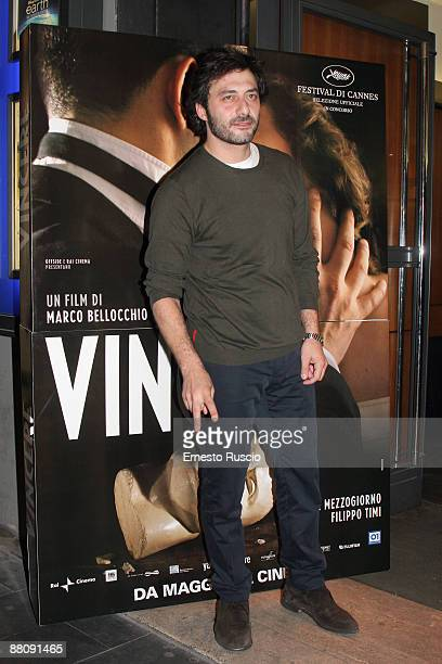 Italian Actor Filippo Timi attends Vincere screening at the Eden Cinema on May 22 2009 in Rome Italy