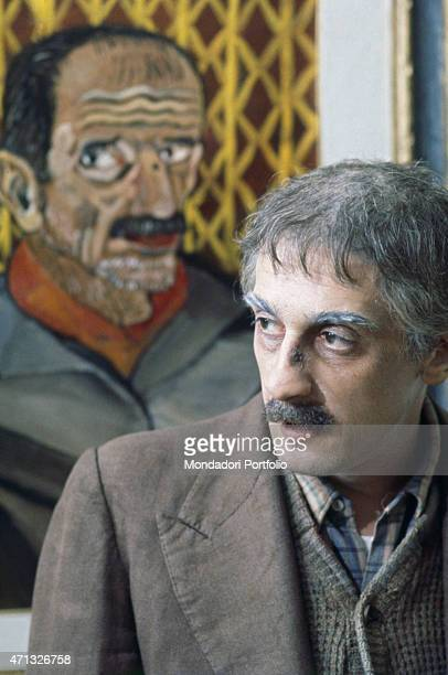 Italian actor Flavio Bucci playing the painter Antonio Ligabue in the TV mini-series Ligabue. 1977