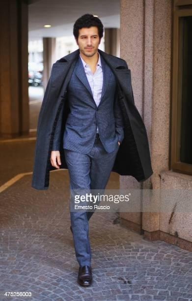 Italian actor Francesco Scianna attends the 'Allacciate Le Cinture' photocall at Hotel Visconti on February 27 2014 in Rome Italy