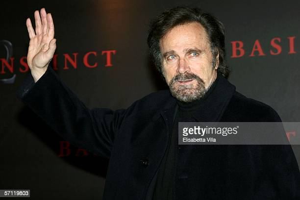 Italian actor Franco Nero arrives at the Italian Premiere of 'Basic Instinct II: Risk Addiction' at the Warner Village Moderno Cinema on March 17,...