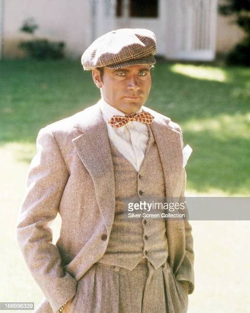 Italian actor Franco Nero as silent film star Rudolph Valentino in the TV biopic 'The Legend of Valentino' directed by Melville Shavelson 1975