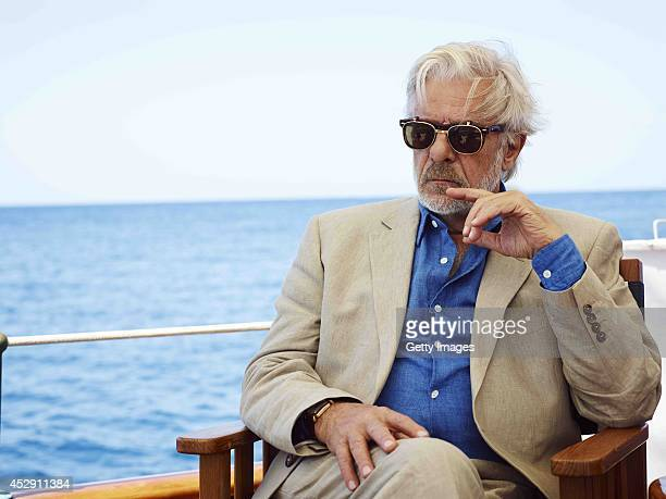 Italian actor Giancarlo Giannini sits aboard a boat on the set of the film 'The Gentleman's Wager' at sea Johnnie Walker Blue Label has launched a...