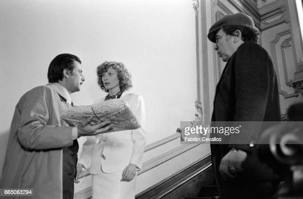 Italian actor Giancarlo Giannini stars with French actress Aurore Clement in the 1979 film Le Buone Notizie Elio Petri wrote directed and produced...
