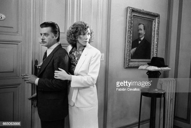 Italian actor Giancarlo Giannini stars with French actress Aurore Clement in the 1979 Italian film Le Buone Notizie The film by director Elio Petri...