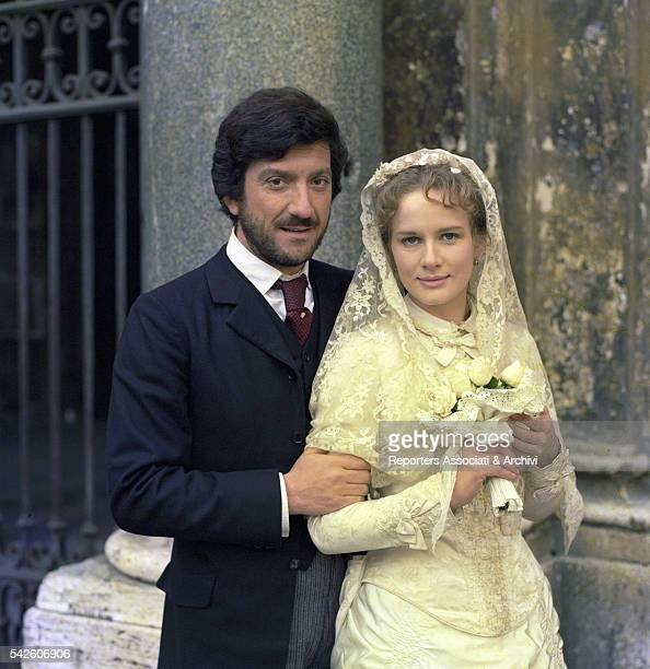 Italian actor Gigi Proietti and French actress Dominique Sanda dressed for their wedding in The Inheritance 1976