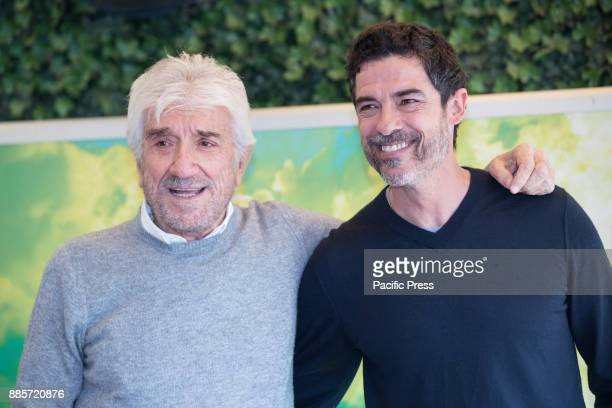 Italian actor Gigi Proietti and italian director and actor Alessandro Gassmann during the Photocall of the Italian movie 'Il Premio' directed by...