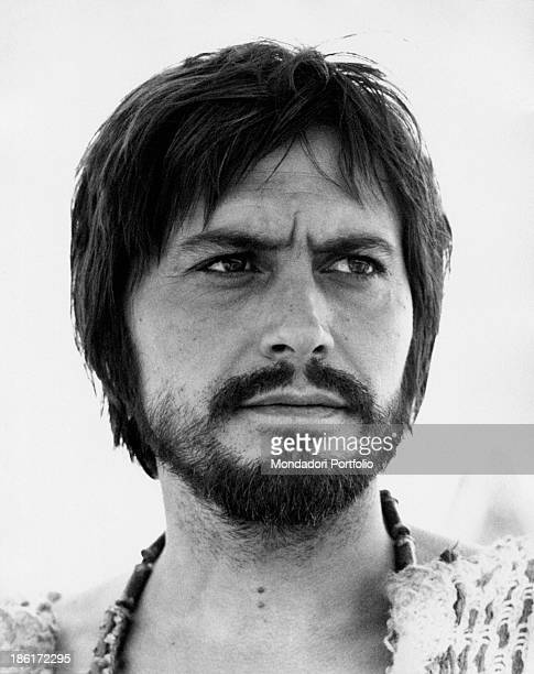 Italian actor Giulio Brogi is shot during the making of the TV miniseries Eneide in which he plays the role of Aeneas Isle of Pap 1970