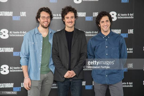 Italian actor group Tre Jolie at Saturday Night Live tv show photocall. Milano, April 6th 2018