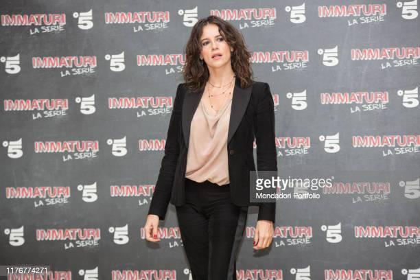 Italian actor Irene Ferri attends the photocall of Mediaset's Immaturi fiction Milan January 11th 2018