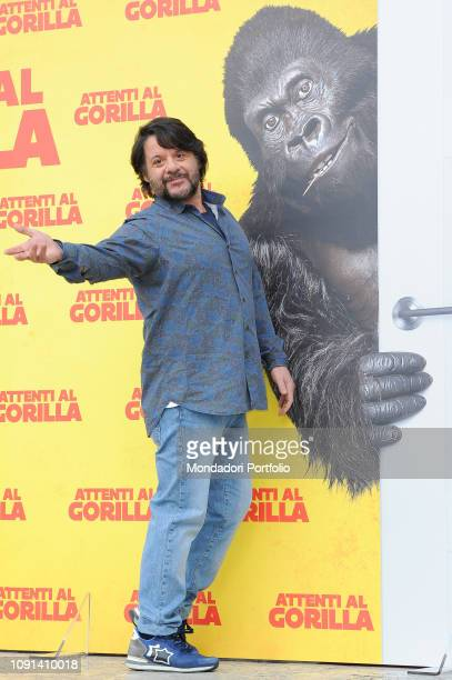 Italian actor Lillo Petrolo during Attenti al Gorilla photocall at The Space Cinema Moderno. Rome, January 8th, 2019