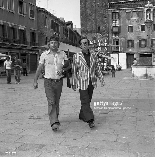 Italian actor Lino Toffolo in 'Campo Santa Margherita' during the demonstration against the Biennale Venice 1968