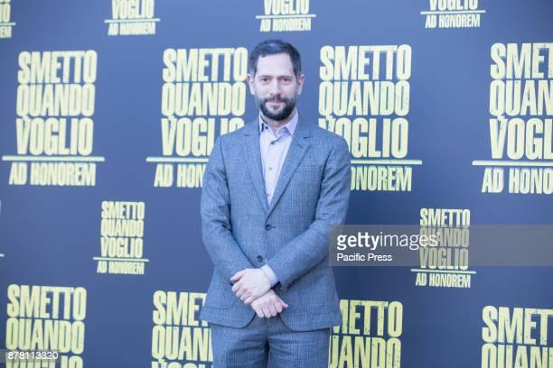 "Italian actor Lorenzo Lavia Photocall of the Italian movie ""Smetto Quando Voglio Ad Honorem"" directed by Sydney Sibilia at The Space Modern Cinema in..."