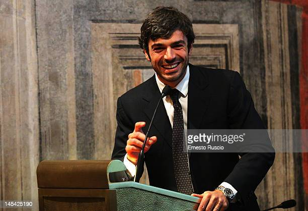 Italian actor Luca Argentero attends the Unveils Antea Onlus New TV Advertising Campaign on May 29 2012 in Rome Italy Antea Onlus is a charity...