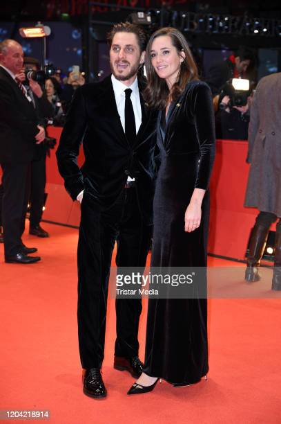 Italian actor Luca Marinelli and Alissa Jung arrive for the closing ceremony of the 70th Berlinale International Film Festival Berlin at Berlinale...