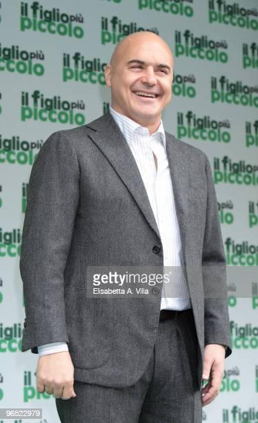 Italian actor Luca Zingaretti attends 'Il Figlio Piu Piccolo' photocall at Embassy Cinema on February 9 2010 in Rome Italy