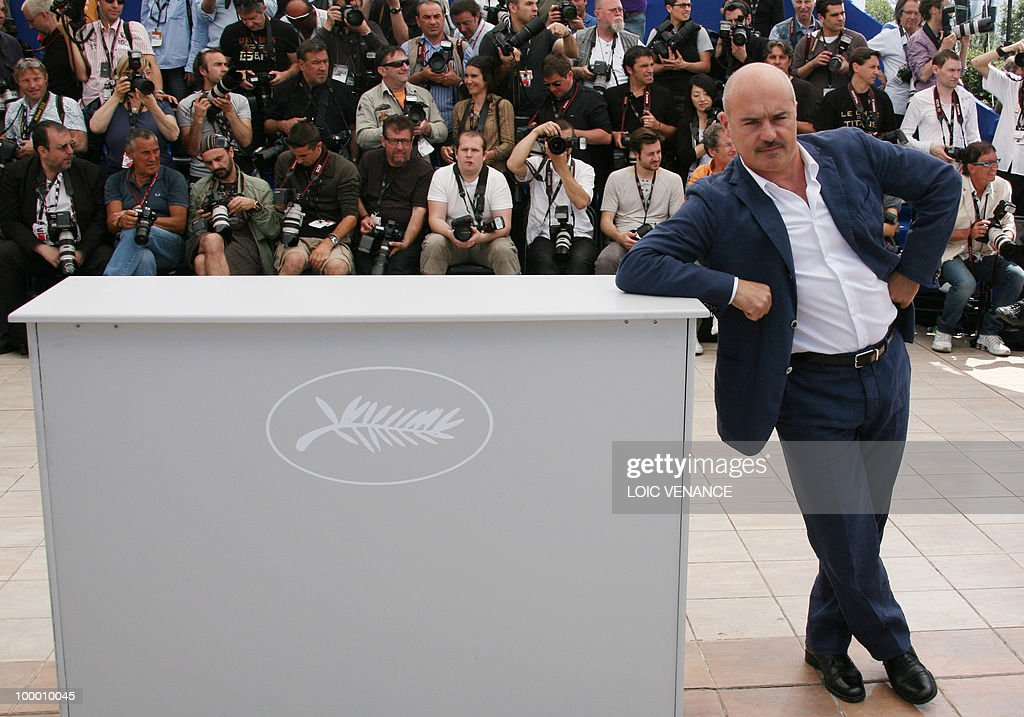 Italian actor Luca Zingaretti poses during the photocall of 'La Nostra Vita' (Our Life) presented in competition at the 63rd Cannes Film Festival on May 20, 2010 in Cannes.