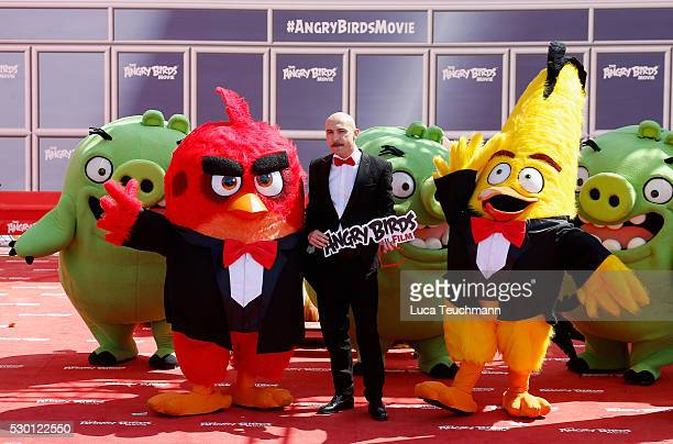 Italian actor Maccio Capatonda attends The Angry Birds Movie Photocall during the annual 69th Cannes Film Festival at JW Marriott on May 10 2016 in...