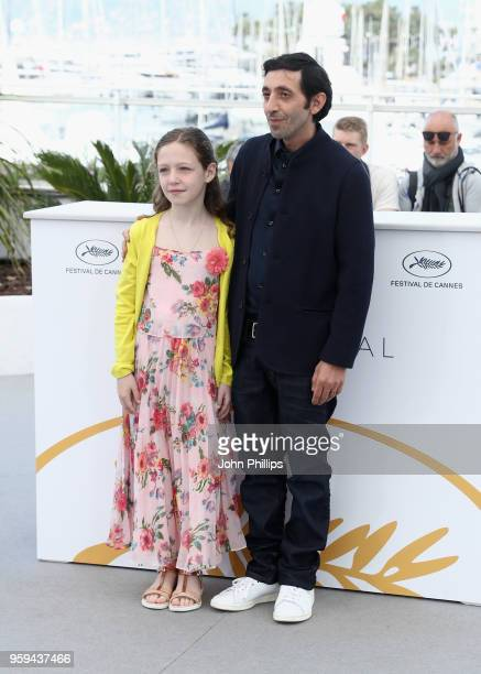 Italian actor Marcello Fonte and Italian actress Alida Baldari Calabria attend the 'Dogman' Photocall during the 71st annual Cannes Film Festival at...