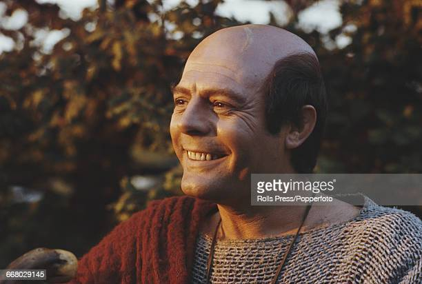 Italian actor Marcello Mastroianni pictured in character as Scipio Africanus on location during production of the film 'Scipio the African' directed...