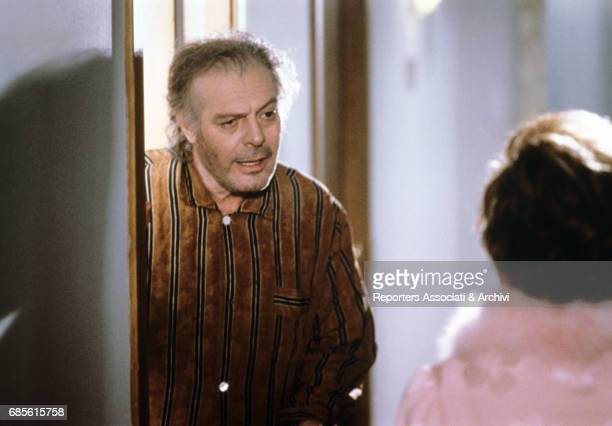 Italian actor Marcello Mastroianni wearing a pyjama in Ginger and Fred 1985