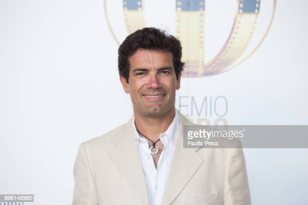Italian actor Marco Bonini during the photocall of the 2017 Globe Awards ceremony evening in the Villa Medici Gardens