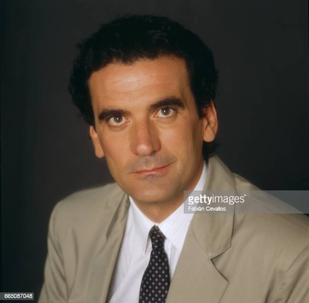Italian actor Massimo Troisi poses for a portrait in a studio outside the set of the movie Splendor directed by Italian director Ettore Scola...