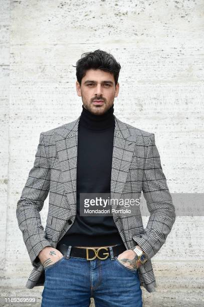Italian actor Michele Morrone dressed DolceGabbana during The Process photocall a fiction by Mediaset Rome November 22nd 2019