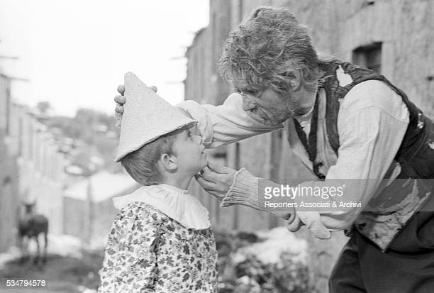 Italian actor Nino Manfredi as Geppetto and Italian actor Andrea Balestri as Pinocchio in the TV miniseries The Adventures of Pinocchio 1972