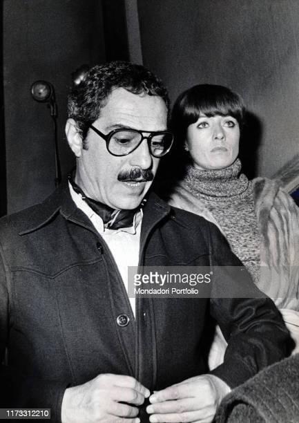 Italian actor Nino Manfredi with his wife and Italian model Erminia Ferrari 1970s