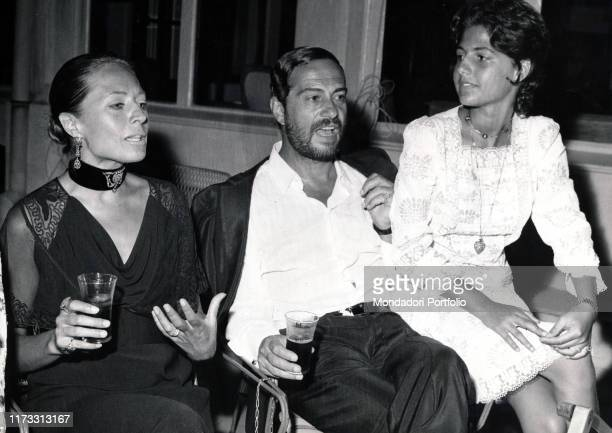 Italian actor Nino Manfredi with his wife and Italian model Erminia Ferrari and their daughter Roberta 1970s