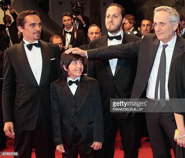 Italian actor Pier Giorgio Bellocchio Italian actor Fabrizio Costella Italian actor Fausto Russo Alesi and Italian director Marco Bellocchio arrive...