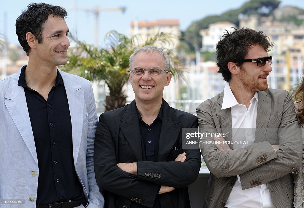 Italian actor Raoul Bova, Italian director Daniele Luchetti and Italian actor Elio Germano pose during the photocall of 'La Nostra Vita' (Our Life) presented in competition at the 63rd Cannes Film Festival on May 20, 2010 in Cannes.