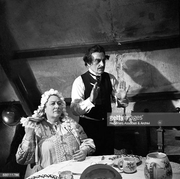 Italian actor Rossano Brazzi and his wife Lidia Bertolini in the film The Christmas That Almost Wasn't 1965