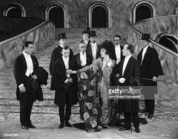 Italian actor Rudolph Valentino as Armand Duval and Russianborn actress Alla Nazimova as courtesan Marguerite Gautier in the film 'Camille' 1921 It...