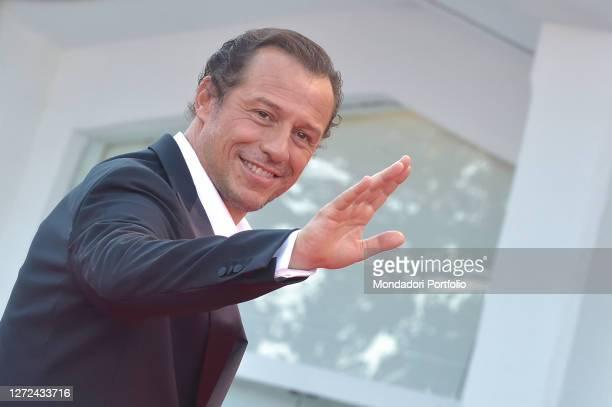 Italian actor Stefano Accorsi at the 77 Venice International Film Festival 2020 Closing ceremony red carpet Venice September 12th 2020