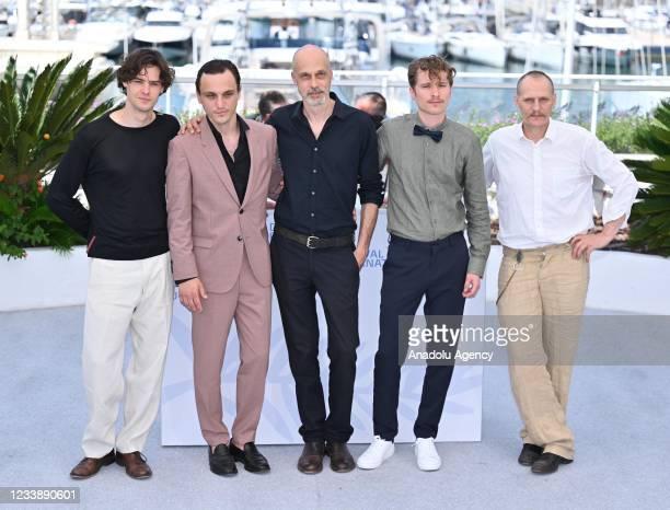Italian actor Thomas Prenn, German actor Franz Rogowski, Austrian director Sebastian Meise, German actor Anton Von Lucke and Austrian actor Georg...