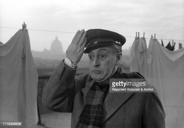Italian actor Totò in the film The Band of Honest Men 1956
