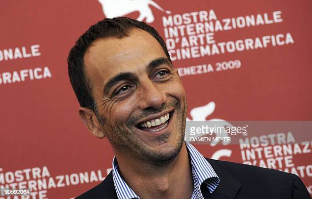 Italian actor Vincenzo Varzi poses during the photocall of Hotel Courbet at the Venice film festival on September 11 2009 Hotel Courbet is presented...