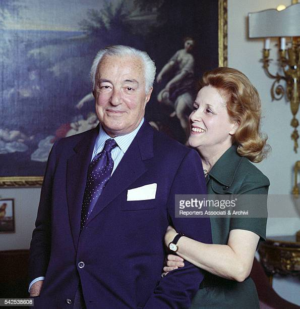 Italian actor Vittorio De Sica and his wife Maria Mercader in their house Rome 1st January 1973